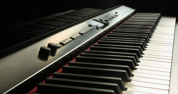 digital piano keys