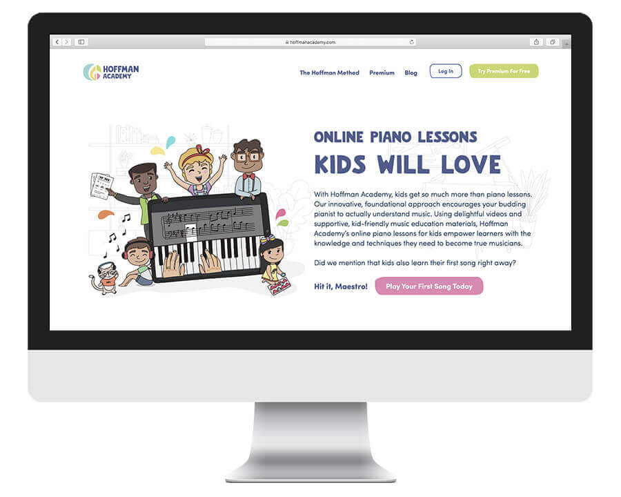 Hoffman Academy online piano lessons for kids