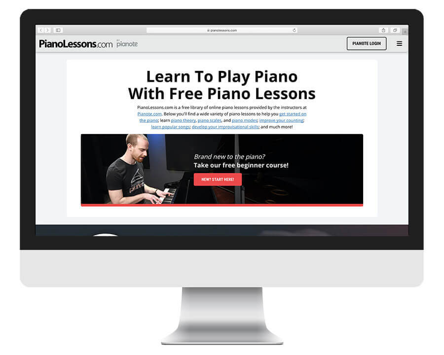PianoLessons free online piano lessons by Pianote