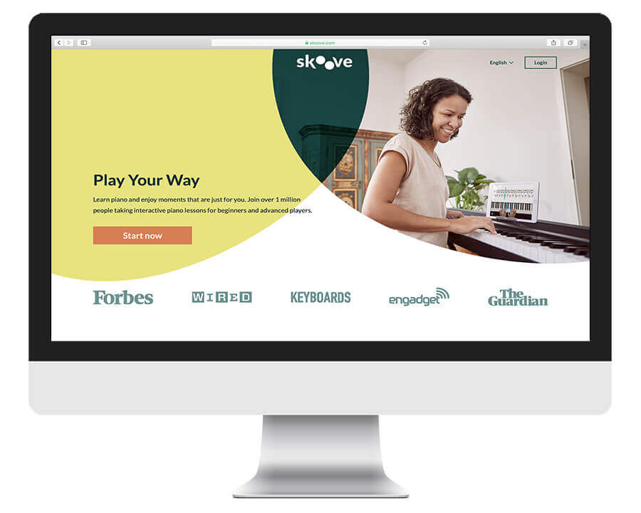 Skoove interactive online piano lessons