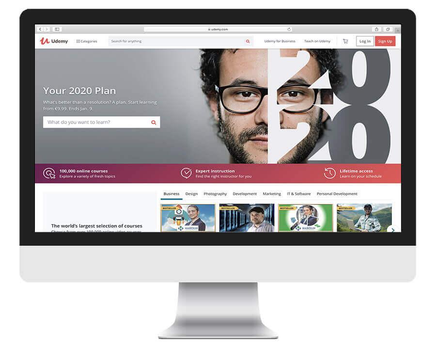 Udemy online learning platform