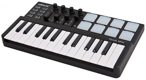 Ammoon Worlde Panda mini 25-Key USB Keyboard